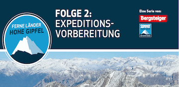 Expeditionsvorbereitung